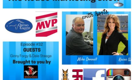 Rodeo Marketing 32- Ortho Equine President Ginny Forgy, Dale Steege Head of Med Vet Pharmaceuticals