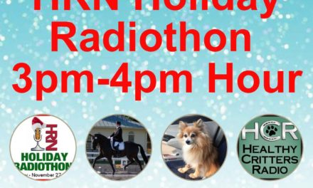 3pm to 4pm- 2017 HRN Holiday Radiothon by Weatherbeeta, Healthy Critters
